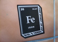 Iron Elemental Symbol